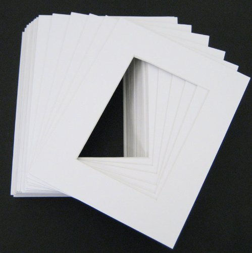 Pack of 50 White 16x20 Mats for 12x18 Photo + Backing + Bags by Golden State Art