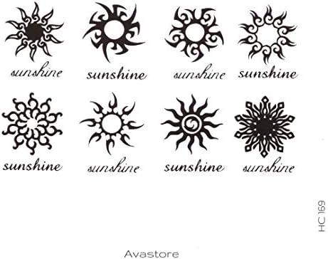 Tatuaje Temporal sol Tribal tatuaje efímero sol Tribal – avastore ...
