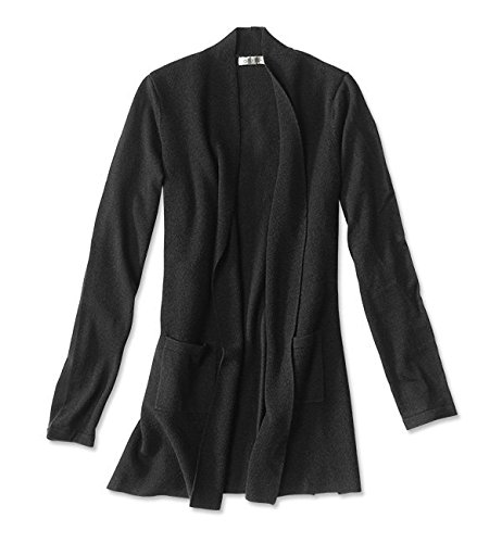 Orvis Women's Signature Merino Cardigan, Black, Medium