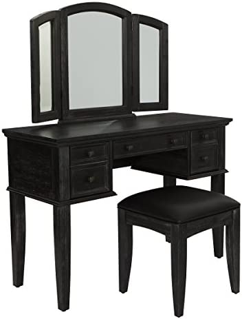 INSPIRED by Bassett Vanity And Bench, Rustic Black