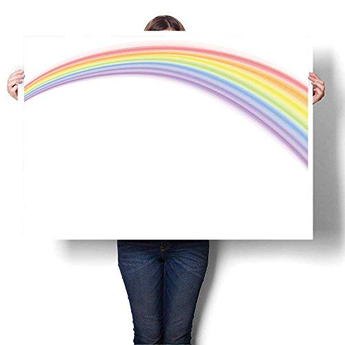 SCOCICI1588 Canvas Print Wall Art Rainbow Over White, used for sale  Delivered anywhere in USA