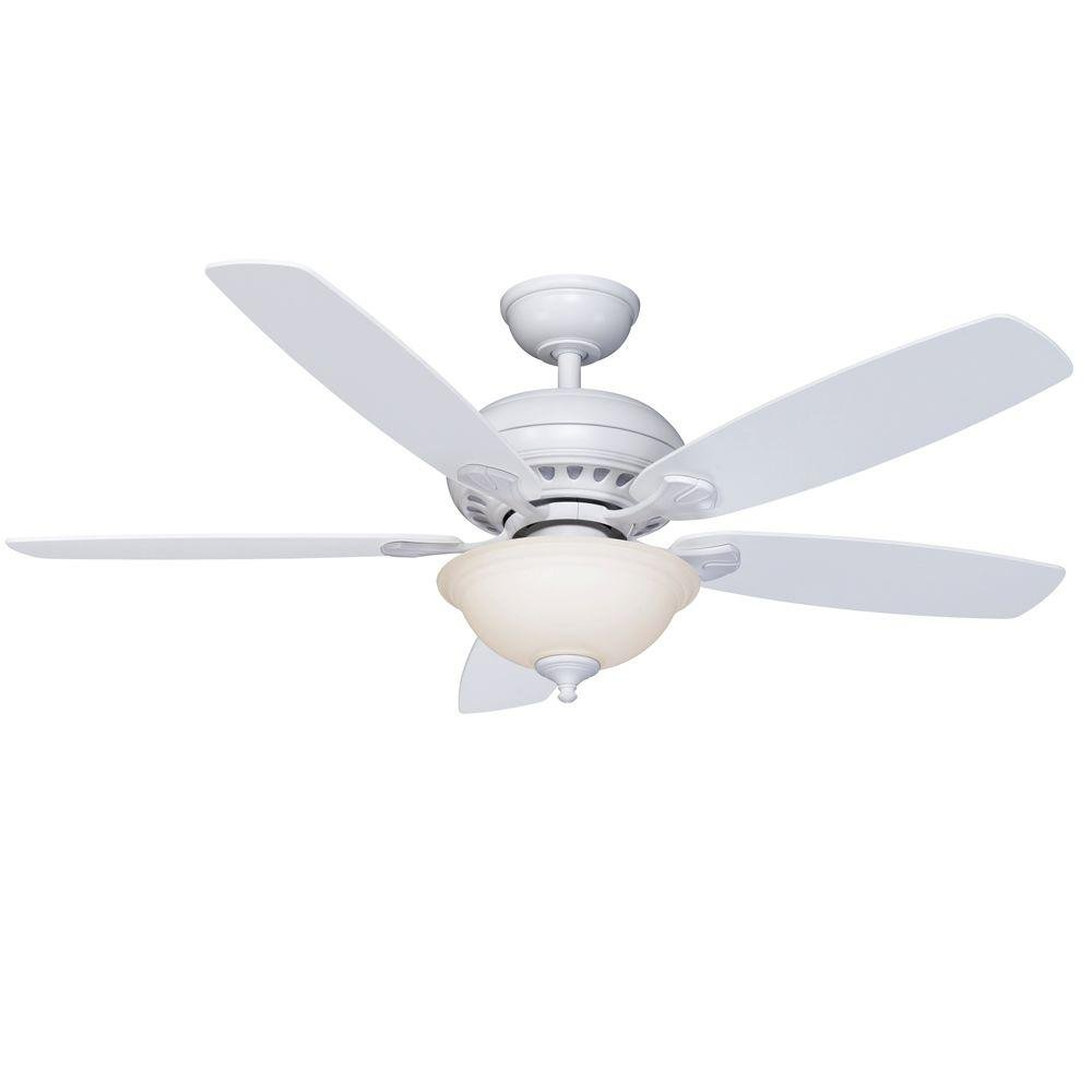 Hampton Bay Southwind 52'' Reversible blades Maple/White - White w/Remote control - Dimmable by Hampton Bay (Image #1)