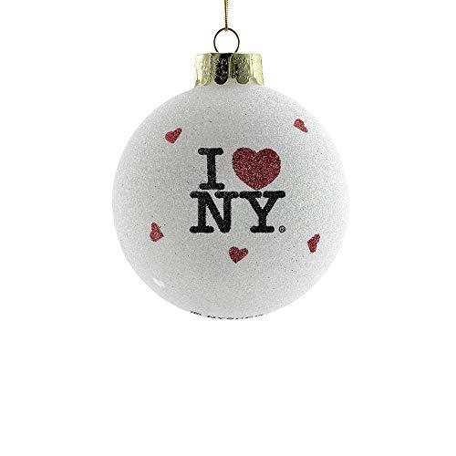 Kurt Adler I Love NY Glass Ball Christmas Ornament