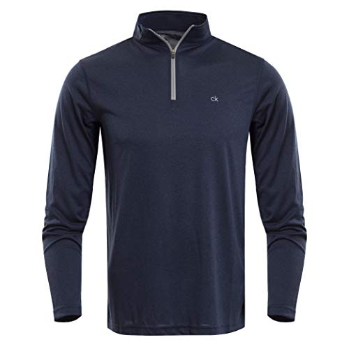 - Calvin Klein Golf Men's Harlem TECH 1/4 Zip, Navy Marl, M