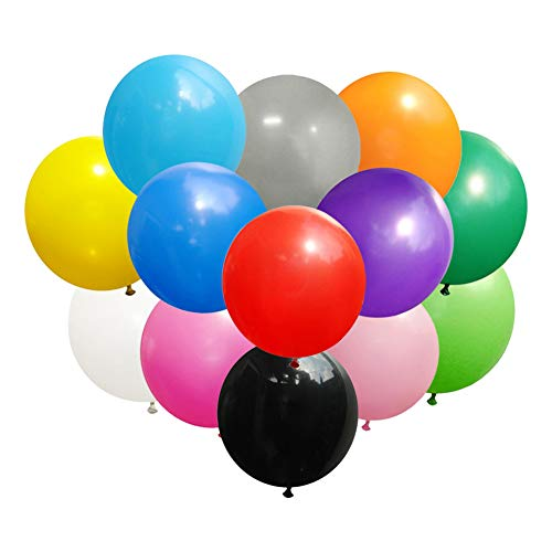 Koogel Big Balloons,15 Pcs 36'' Assorted Colors Latex Giant Balloons Large Balloons for Birthday Wedding Party Festival Event Carnival Decorations -