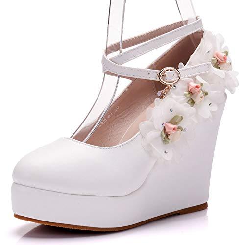 Scarpe White Tacco Donna Tempo Toe Sposa Da Cuneo Libero x6qU1px