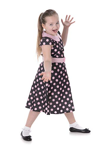 Girl's 50s Polka Dot Lady Costume, for Halloween