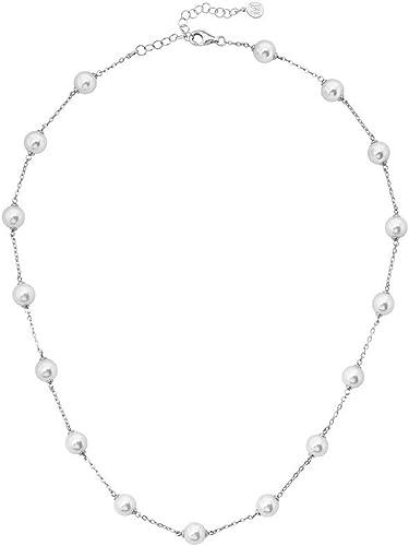 Majorica Collar Perlas Mujer chapado en plata