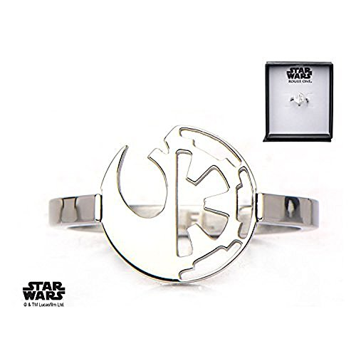 Symbol Cut Out Ring - Star Wars Stainless Steel Rogue One Rebel Alliance/Galactic Empire Symbol Cut Out Ring 6