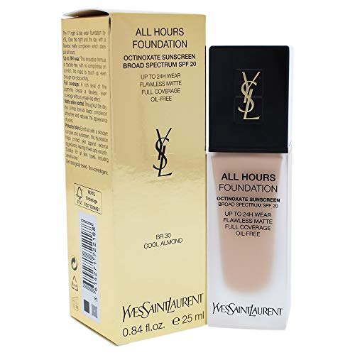 Yves Saint Laurent All Hours Foundation Spf 20, Br30 Cool Almond, 0.84 Ounce