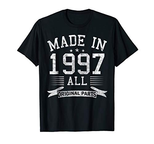 Made In 1997 All Original Parts Funny 21th Birthday T-Shirt