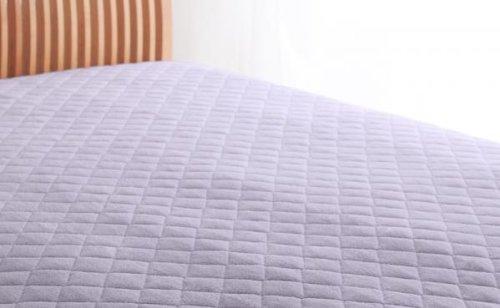 綿100%で快適!敷パッド クイーン 同色2枚セット B071NKHRXL (クイーン) ラベンダー ラベンダー