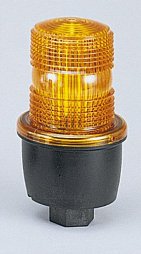 Federal Signal LP3S-120A-CP Low Profile Strobe Light, Surface mount, Amber, 120 VAC