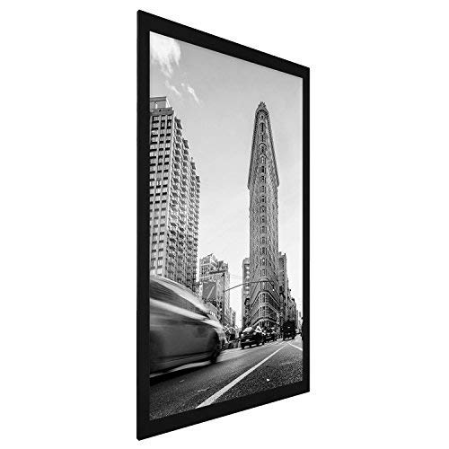 Americanflat Poster Frame, 24x36 inches, Thick Moldings, Black (Renewed)