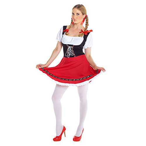 Womens Sexy Dirndl German Lederhosen Oktoberfest Costume Costume (Lederhosen Fancy Dress Costumes)