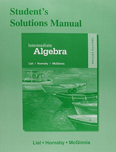 Intermediate Algebra Stud.Sol.Man.