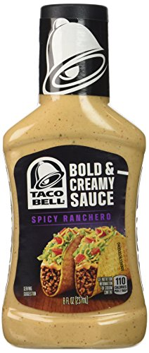 - Taco Bell Bold & Creamy, Spicy Ranchero Sauce, 8 Oz bottle