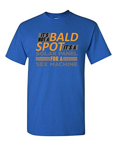 0ad82234 ... It's Not A Bald Spot It's A Solar Panel Funny Humor DT Adult T-Shirt ...