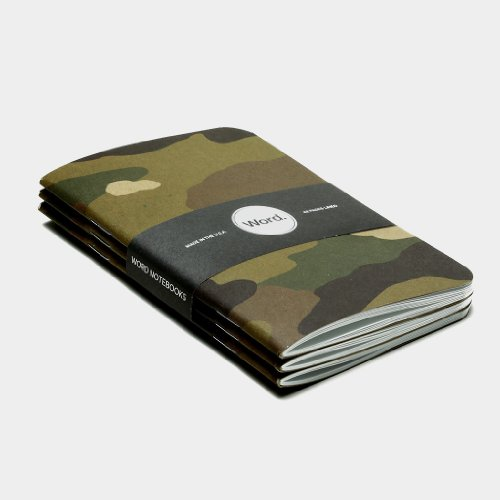 Word. Notebooks Traditional Camo - 3-Pack Small Pocket Notebooks