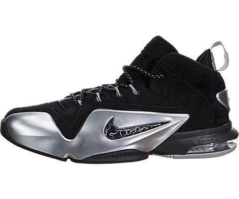 Nike Men's Zoom Penny VI Black/Metallic Silver Basketball Sh