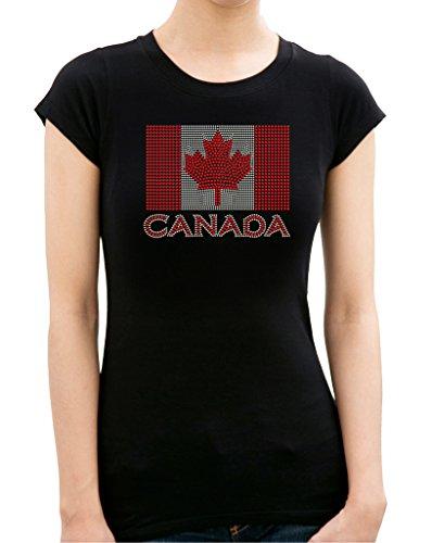 CANADIAN FLAG Rhinestone/ Stud Women's - Canada Outlet Niagara