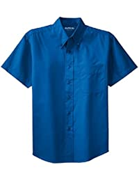 Men's Big & Tall Short Sleeve Wrinkle Resistant Easy Care Button Up Shirt