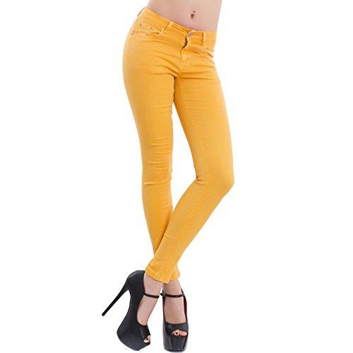 Amarillo para Vaqueros Mujer Toocool Skinny U6RZwxvO