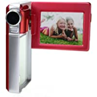 Vivitar DVR925-RED/KIT-AMX 8.1 MP HD Digital Video Camera with 2-Inch LCD, Red