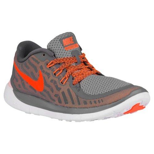 meilleur service eae95 a3600 NIKE Free 5 PS Youth Running Sneaker (1 Little Kid M, Grey/Peach)
