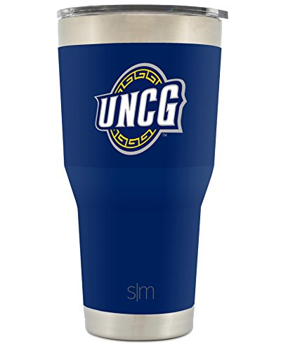 Simple Modern University of North Carolina Greensboro 30oz Cruiser Tumbler - UNC Vacuum Insulated Stainless Steel Travel Mug - UNCG Spartans Tailgating Cup College Flask