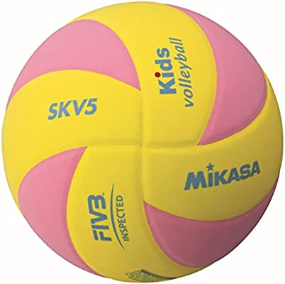 Mikasa Balón de fútbol SKV5-YP Kids Vawila, Amarillo/Rosa, 5, 1122 ...