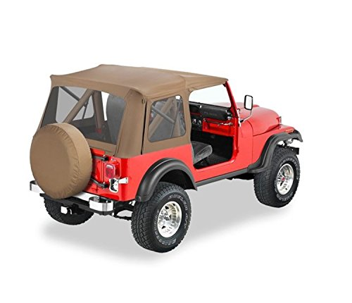 Bestop 51599-37 Spice Supertop Classic Replacement Soft Top with Clear Windows; No Doors Included for 1976-1995 Jeep CJ7/Wrangler