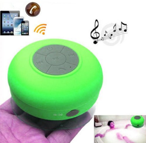 - Dreamall Waterproof Bluetooth Wireless Shower Speaker Mini Portable Handsfree Speakerphone with Suction Cup,Compatible with all Bluetooth Devices(Green)