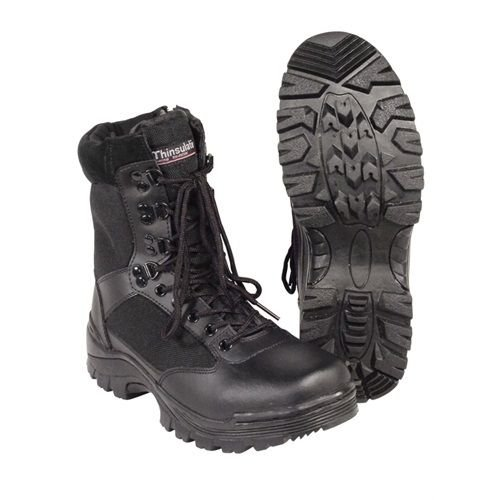 Black Combat Milspec Boot (Black Tactical Police or EMS Boot w/ YKK Zipper Size 12W)