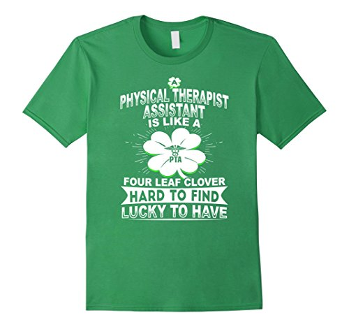 Men's Physical Therapist Assistant Is Like A Four Leaf Clover Large Grass