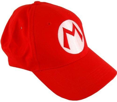 2PCS Super Mario Bros Baseball Cap Mario Luigi Cosplay Red Green -