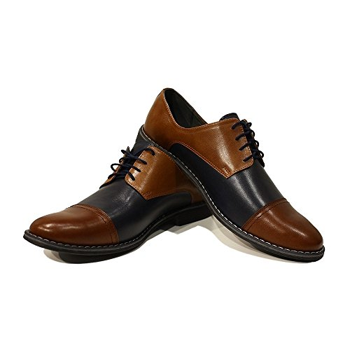 Peppeshoes Hombres Zapatos A De De De Zapatos Hecho Italiano Becerro Cuero Modello Suave Encaje Vittorio Marina Azules Oxford Mano zwrpW4zq