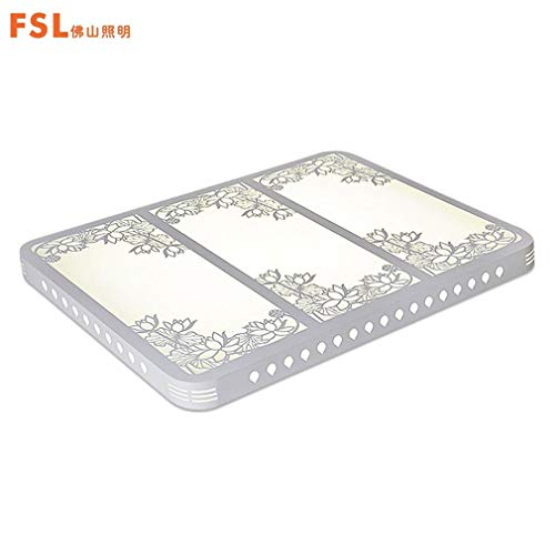 FSL FAX50119 Living Room Lamp LED Flower Patterns Electrodeless Dimming(Color:White)(Size:900650mm)