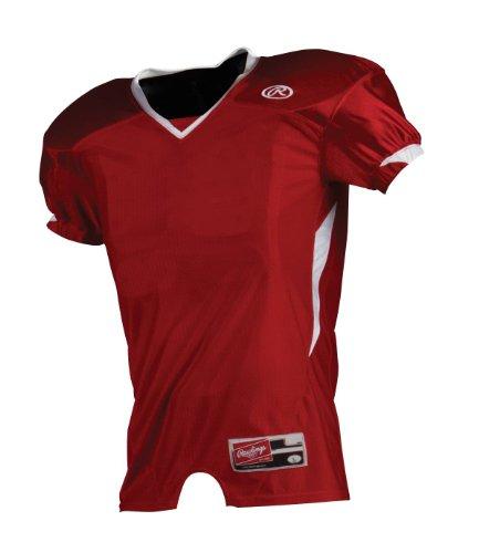 (Rawlings Men's Fjmjd Football Jersey (Scarlet, Medium))