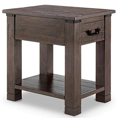 Magnussen Pine Hill End Table in Rustic Pine