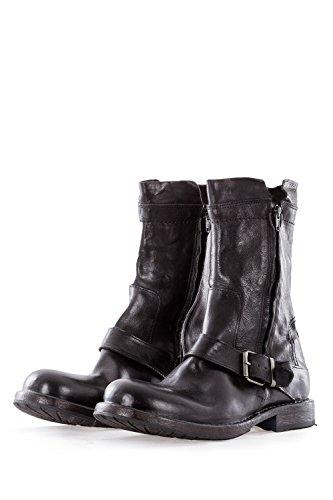MOMA Herren Leder Boots CUSNA NERO schwarz