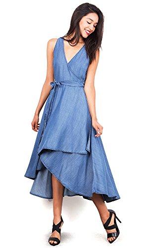 ading Chambray Dress (Medium, Denim) (Chambray Womens Dress)
