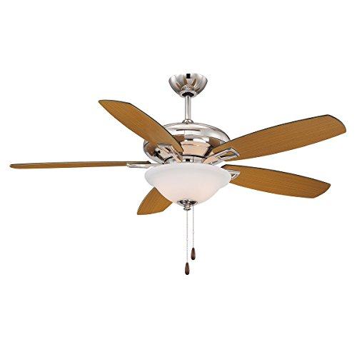 Savoy House 52-831-5RV-109 Mystique 3-Light Ceiling Fan in Polished Nickel