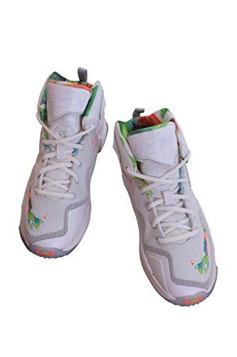 meet 3e254 64cd8 ... order amazon 808710 108 kids pre school lebron xiii ps nike white  bright mango basketball 507b5