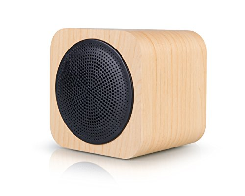 AVWOO wood bluetooth speaker with fm radio, supportmp3 player aux portable wireless speaker built in 1200mah rechargable battery suitable for cell phone, pc, tablet. (1,200 Mah Mobile)
