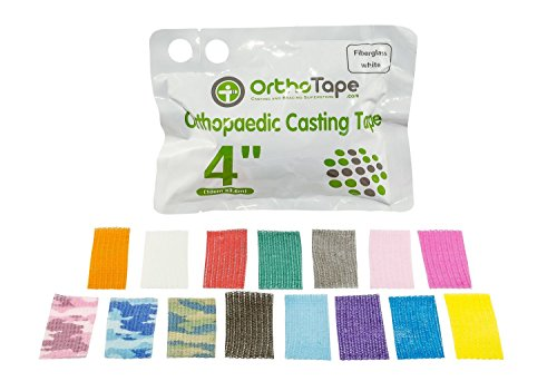 Blue Casting Tape - OrthoTape Premium Fiberglass Casting Tape 4-INCH (1 ROLL) (Dark Blue)