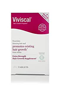 Viviscal Extra Strength Hair Nutrient Tablets, 180-Tablets (Packaging May Vary)