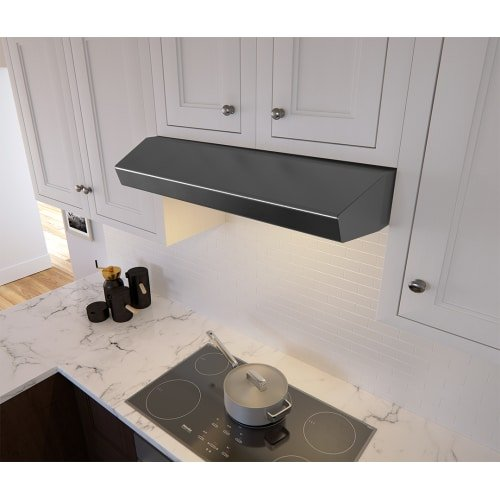 Zephyr AK1200B 400 CFM 30 Inch Wide Under Cabinet Range Hood from the Breeze II, Black Stainless (Zephyr Stainless Steel Dishwasher)
