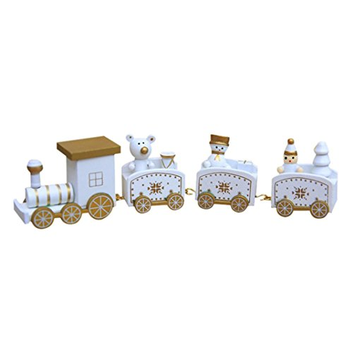 (Lavany® Christmas Decorations Woods Small Train Children Kindergarten Gift Decorative Stitching Toy)