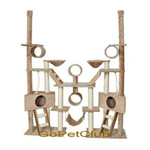 Go Pet Club Cat Tree Condo Furniture, 106-Inch, Beige]()